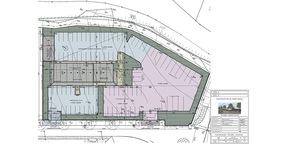 Phase DCE - Plan de masse toiture