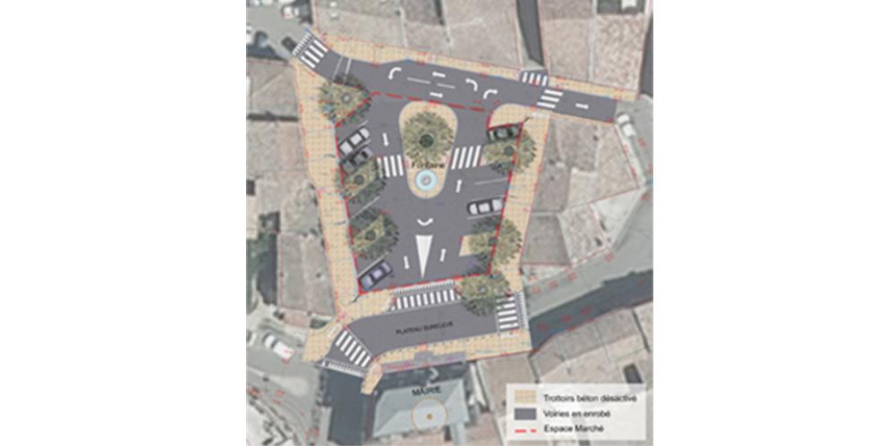 Photographie aérienne - Insertion du projet