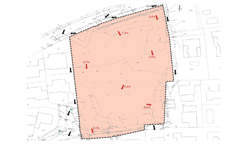 Etude de la topographie du site et de son alentour