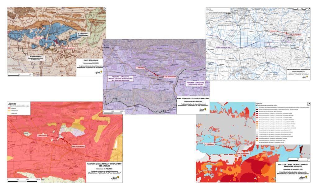 Impact du projet sur l'état initial avant aménagement (contexte géologique et hydrogéologique, retrait et gonflement des argiles, captages AEP, masses d'eaux souterraines et superficielles)
