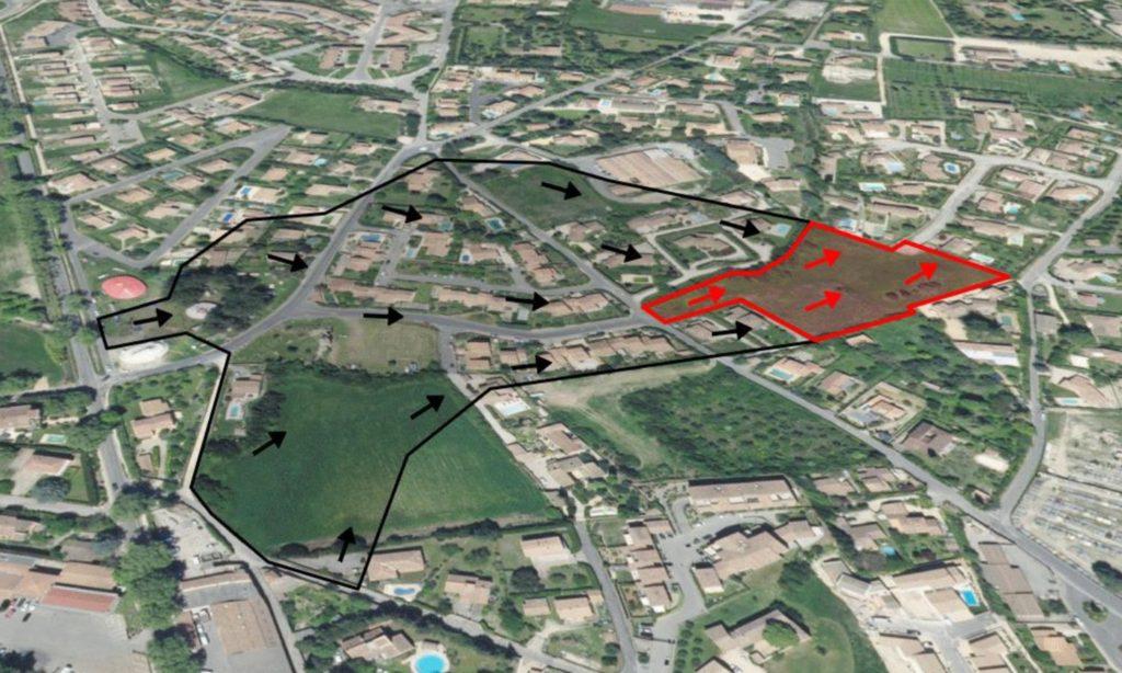 Définition du bassin versant amont intercepté (BVa) par le projet