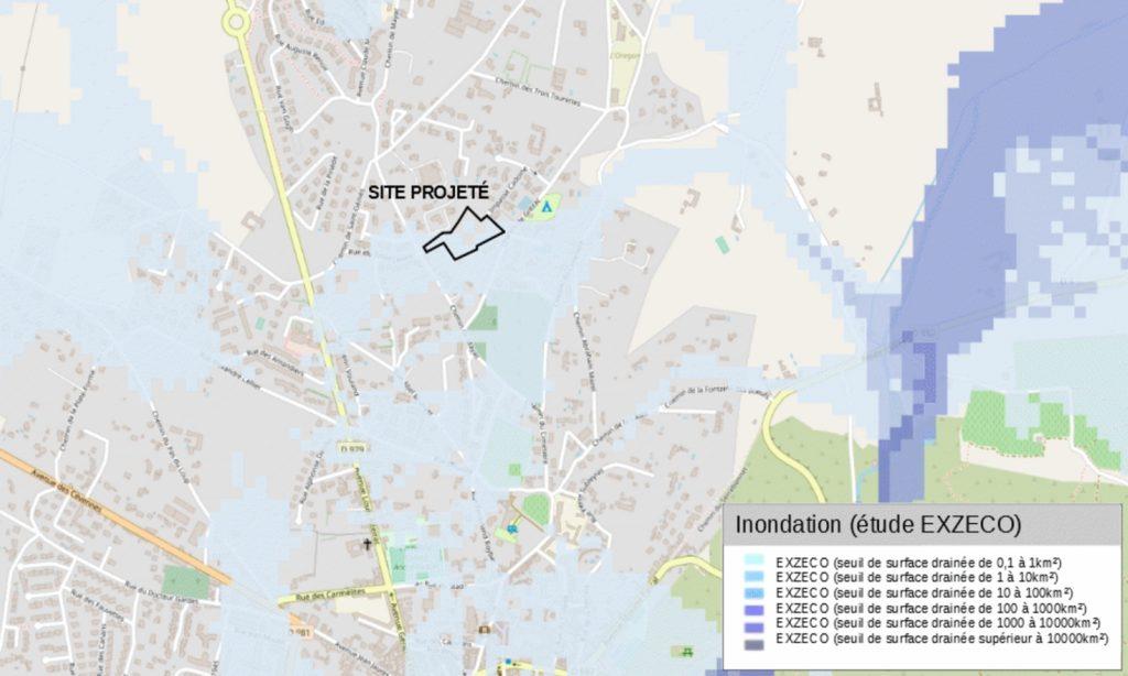 Etude des risques inondations au droit du site