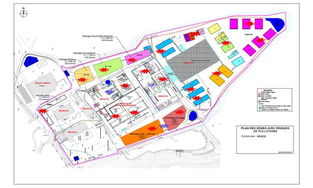 Evaluation des zones à risques + Estimation des besoins en eau d'extinction incendie